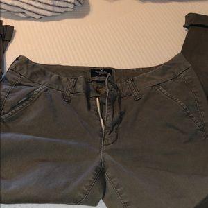 AE Olive skinny dress pants